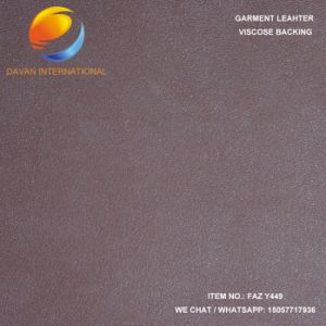 Artificial Leather for Garment with Suede Backing pictures & photos