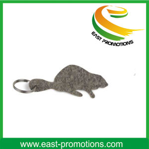 Custom Cheap Wholesale Thickness 3mm Felt Embroidery Key Chain pictures & photos