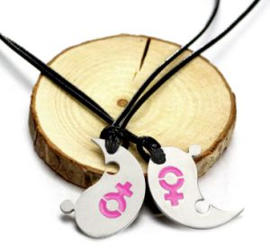 Stainless Steel Rope Jewelry Glue Pendant Necklace for Couples pictures & photos