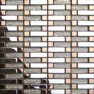 8mm Crystal Glass Gold Mosaic (VMW3961) pictures & photos