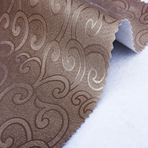 Flower Pattern PU Leather for Decortation (HS-M381) pictures & photos