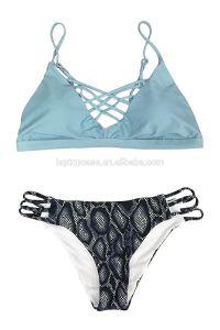 Women′s Sexy Vintage Strappy Brazilian Hollow out Swimwear Bikini pictures & photos
