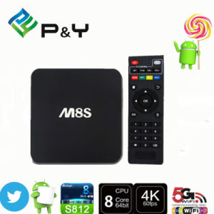Wholesale S812 Android5.1 Kodi15.2 M8s TV Box M8 Updated pictures & photos