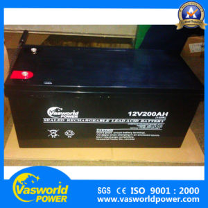 Vasworldpower 2017 High Quality Product 12V 200ah Solar Gel Battery pictures & photos