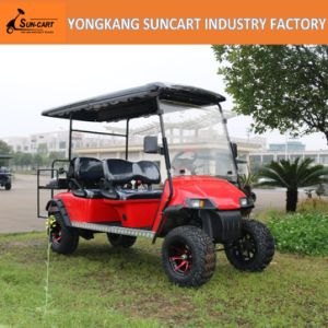 6 Seater Electric Car with Painted Wheels, 4 Seater Plus Back 2 Seater Golf Car for Sale pictures & photos