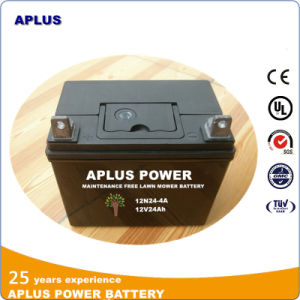 Lawn Tractors Maintenance Free Lead Acid Battery 12n24-4A 12V 24ah pictures & photos