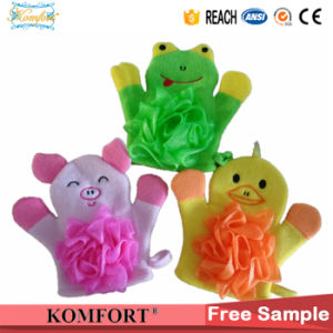 Pig Animial Finger Hand Puppet Kids Baby Bath Cleaning Glove pictures & photos