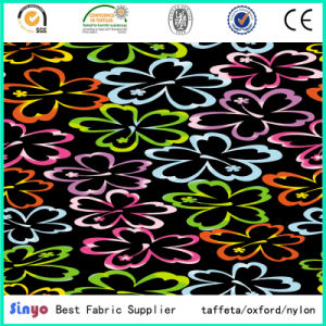 100% Polyester Oxford 300d Digital Flower Printed Fabric for Fashion Bags pictures & photos