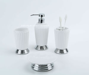 Ribbed 3D Metal Ceramic Bathroom Accessory pictures & photos