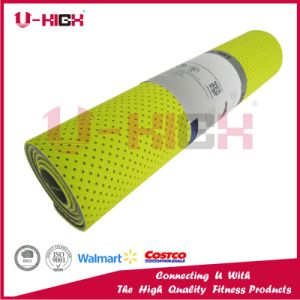 Dual Color Honeycomb on Front Side TPE Yoga Mat pictures & photos