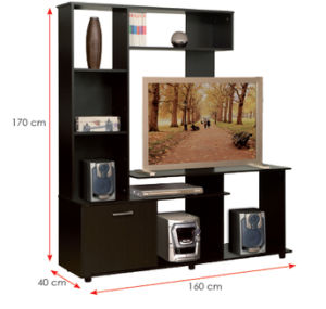 Modern MFC Laminated Wooden Cabinet TV Stands (HX-DR300) pictures & photos