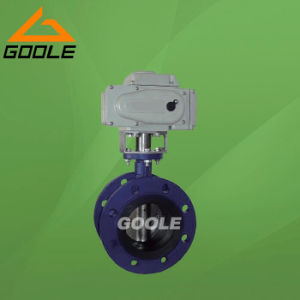 Electric/Motorized Soft Seal Flanged Butterfly Valve (GAD941X) pictures & photos