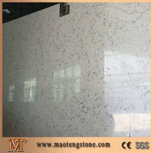 Popular Man Made White Mirror Fleck Quartz Stone Countertop pictures & photos
