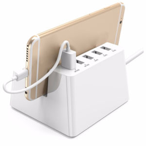 Smart Charging Desktop Charger with 2 AC EU Us Au UK Outlets and 5 Ports USB Charger pictures & photos