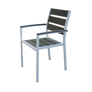 Wooden Arm Stool Metal Cafe Aluminum Restaurant Polywood Chair for Sale pictures & photos