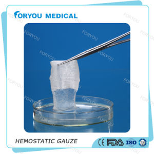 Foryou Medical New Surgical Hemostatic Trauma Gauze FDA Low Price Soluble Hemostatic Gauze Soluble Gauze Army Dressing pictures & photos