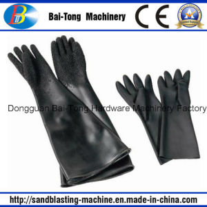 Sandblasting Sandblast Rubber Gloves (L6500) pictures & photos