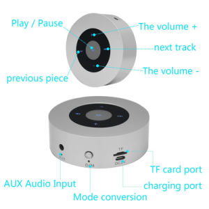Round Wireless Bluetooth Portable Mini Speaker with TF Card pictures & photos