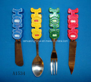 Stainless Steel Butter Knife with Resin Handle pictures & photos