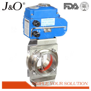 Sanitary Stainless Steel Pneumatic Wafer Butterfly Valve pictures & photos