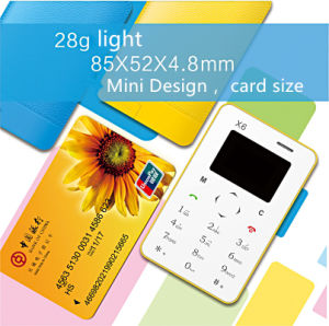 4.8mm Ultra Thin X6 Mobile Phone Mini Pocket Card Phone with Qwerty Keyboard pictures & photos