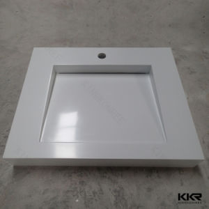 Solid Surface Man Made Stone Resin Bathroom Washbasin pictures & photos