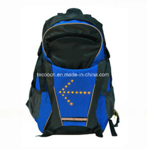 Cycling Backpack with Wiereless LED Lighting Signal pictures & photos