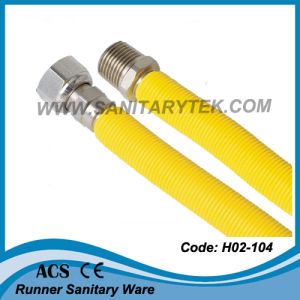 Stainless Steel Corrugated Gas Hose (H02-104) pictures & photos