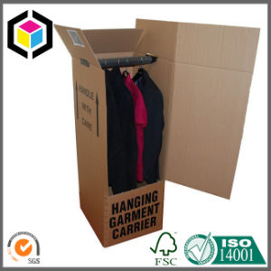 Strong Corrugated Paper Wardrobe Moving Box with Metal Pole pictures & photos