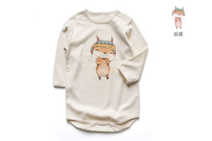 Giraffe Printing Organic Baby Romper pictures & photos
