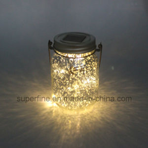 Romantic Weeding Decoration Glass Hanging LED Solar Lights with Shine pictures & photos