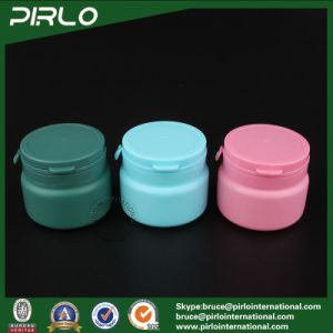 120ml 3oz Dark Green Cylinder Shape Chewing Gum Plastic Bottle Chocolate Candy Bottle with Tear off Flip Top Cap pictures & photos