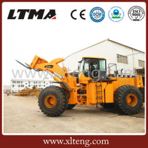 40 Ton Forklift Wheel Loader for Block Lifting at Quarry pictures & photos