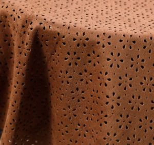 100% Polyester Laser Punch Microfiber Suede Fabrics for Sofa for Home Textile Upholstery pictures & photos