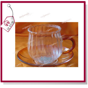 Elegant Lotus Flower Modelling Glass Cups Mugs Transparent Color pictures & photos