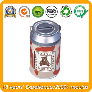 Round Milk Tin with Handle, Metal Milk Can, Food Tins pictures & photos