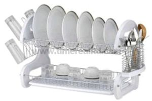 2 Layers Metal Wire Kitchen Dish Rack Plastic Board No. Dr16-Bp04 pictures & photos