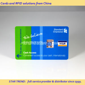 Plastic Magnetic Stripe Card with Full Colors for ATM Card pictures & photos