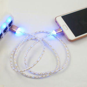Colorful LED Light Charging Sync USB Cable for Mobile Phone pictures & photos