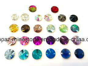 Various Colors Sew on Crystal Stone Rivoli Sew on Glass Rhinestone (SW-Rivoli 8-18mm mixed colors) pictures & photos