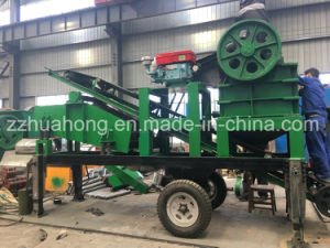 Hot Type Movable Rock Crushed Machine Crusher, Simple Stone Crushing Plant Jaw Crusher pictures & photos