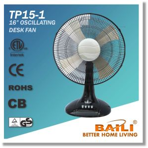 "Good Quality 16"" Oscillating Cooling Desk Fan/Table Fan with Aluminum Blade pictures & photos"
