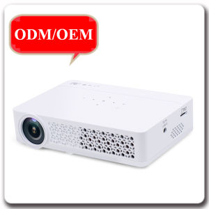 Full HD 1080P Home Office Short Throw Android HDMI USB Mini DLP 3D Projector pictures & photos
