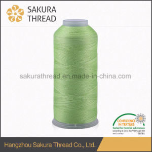 100% Polyester Filament Polyester Embroidery Thread Sakura Brand pictures & photos