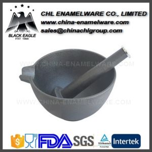 Multi Purpose Cast Iron Mortar and Pestle for Pepper Grind pictures & photos