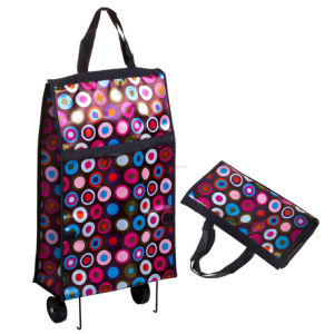 Portable Foldable Wheels Shopping Bag Suit for Promotioal pictures & photos