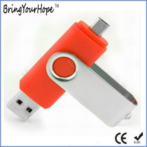 Orange Color OTG USB Flash Drive (XH-USB-001OTG) pictures & photos