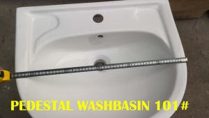 Modern Design Hand Wash Pedestal Washbasin pictures & photos