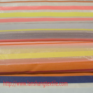 Chemical Fabric Dyed Yarn Polyester Fabric Jacquard Stripes Fabric for Garment Full Dress, Curtain pictures & photos