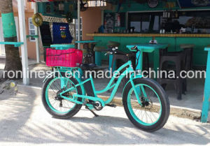 Lady 250W/350W/500W Electric 26inx4 Fat Tyre E Bike/E Fat Tire Bicycle/Electric Snow Bike/E Fatty Bicycle/E Sand Bike/E Fat Pedelec/All Terrain Bike in Blue pictures & photos